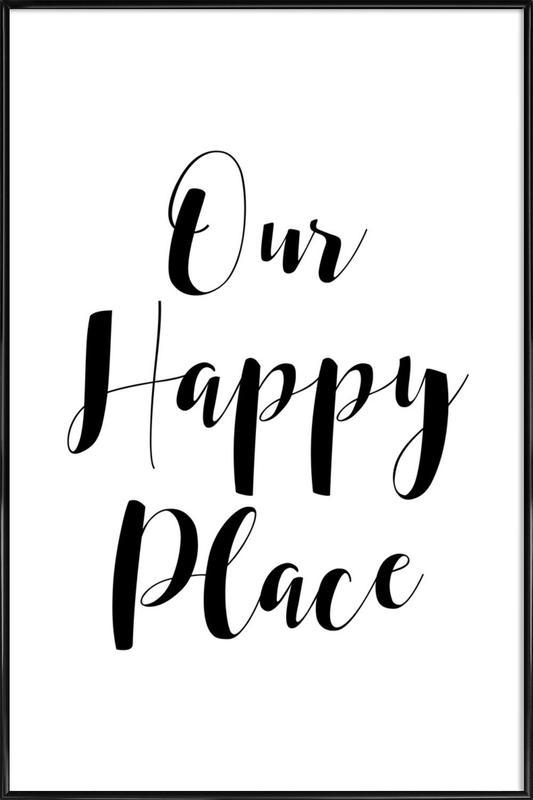 Our Happy Place -Bild mit Kunststoffrahmen