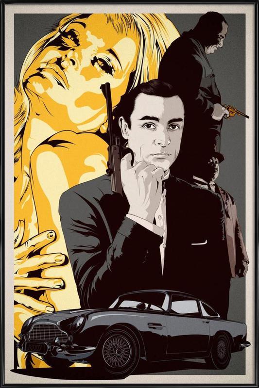 Goldfinger -Bild mit Kunststoffrahmen