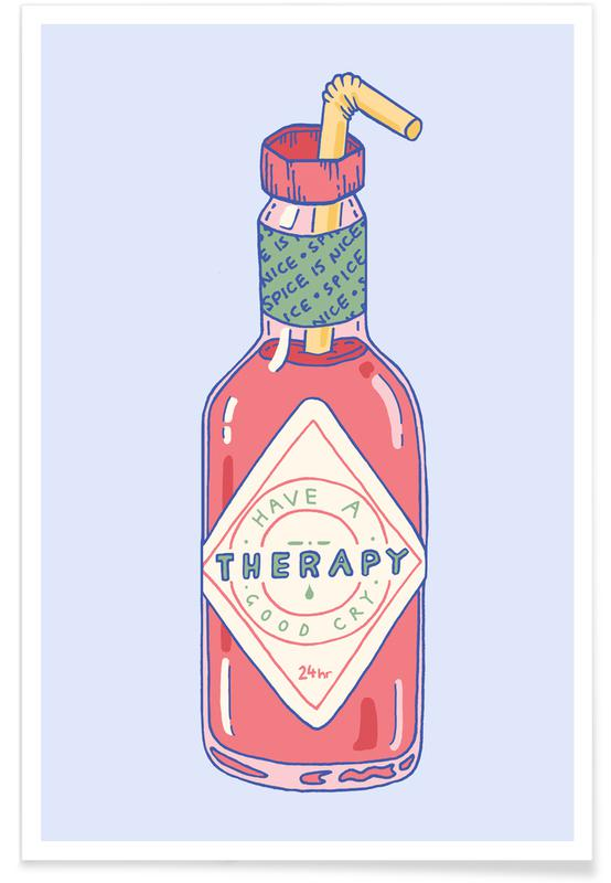Hot Sauce Therapy -Poster