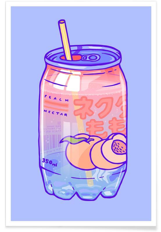 Peach Bubbles Poster
