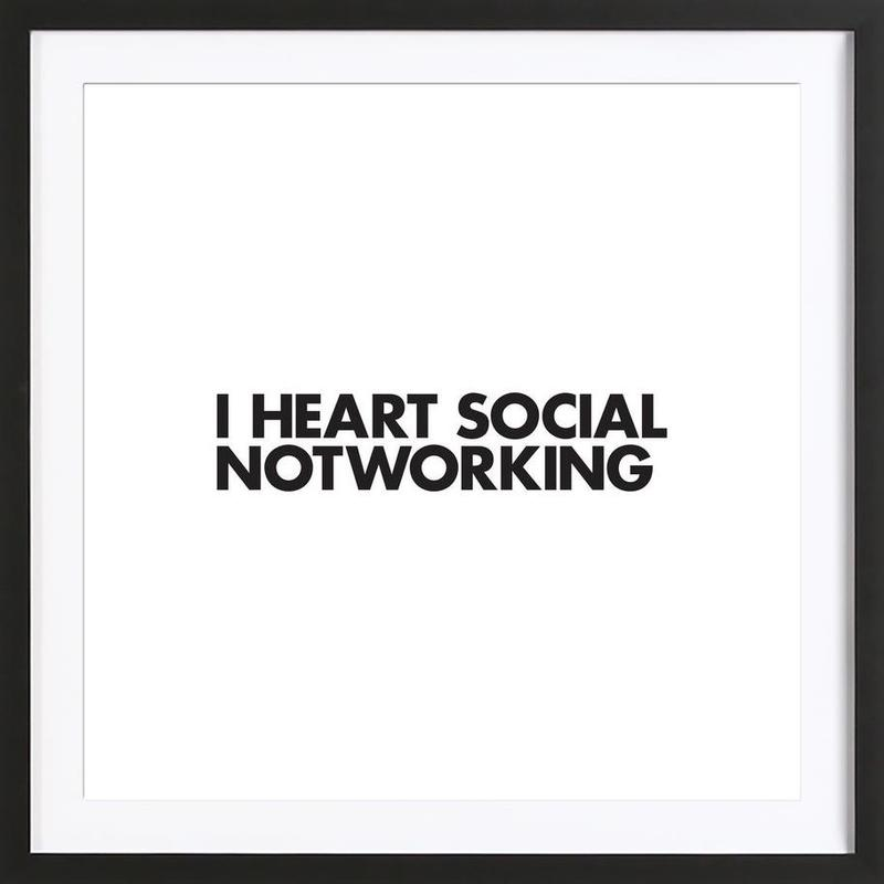 Social Notworking Framed Print