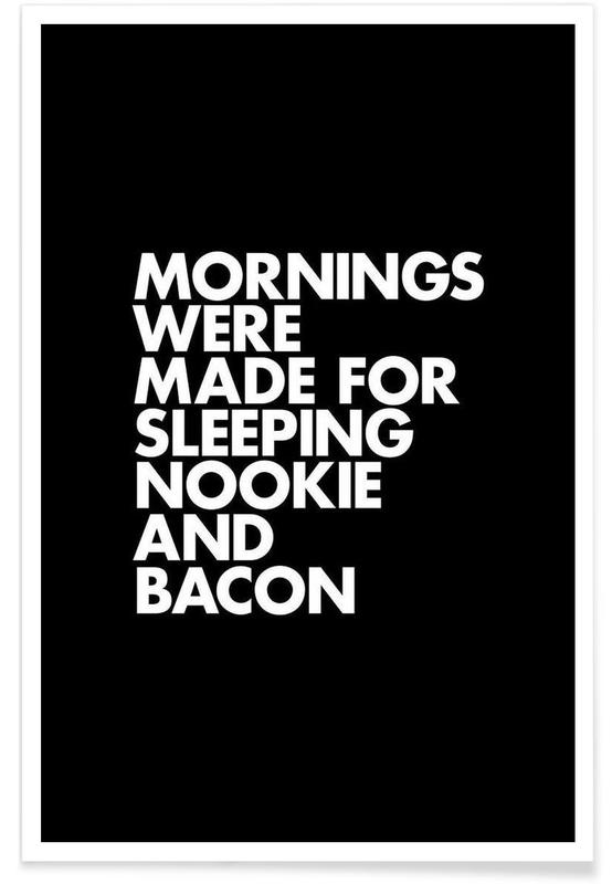 Sleeping Nookie Bacon White -Poster