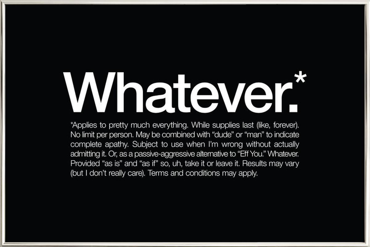Whatever* Poster in Aluminium Frame