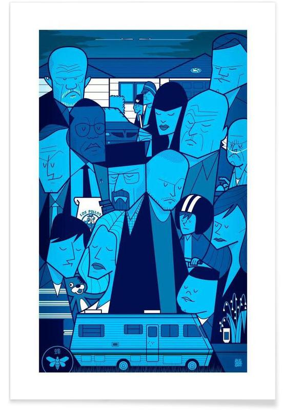I'm the one who knocks - blue version Poster