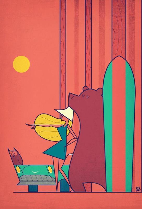 SURF -Acrylglasbild