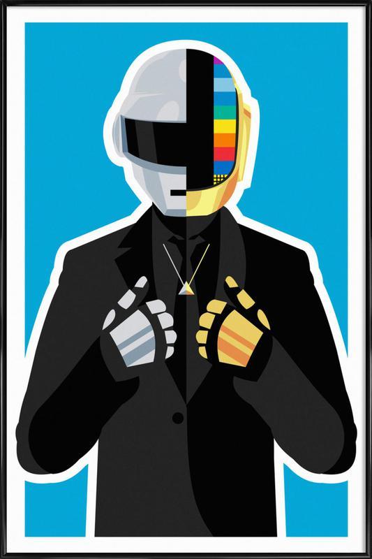 Daft Punk -Bild mit Kunststoffrahmen
