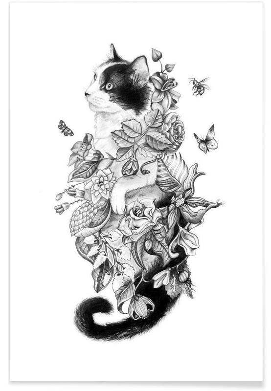Botanical Cat Poster