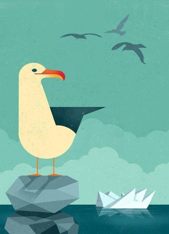 Seagull -Leinwandbild