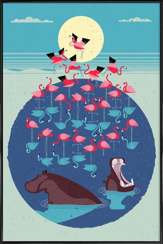 Flamingos Framed Poster
