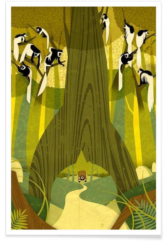 Vintage Colobus Monkey Poster