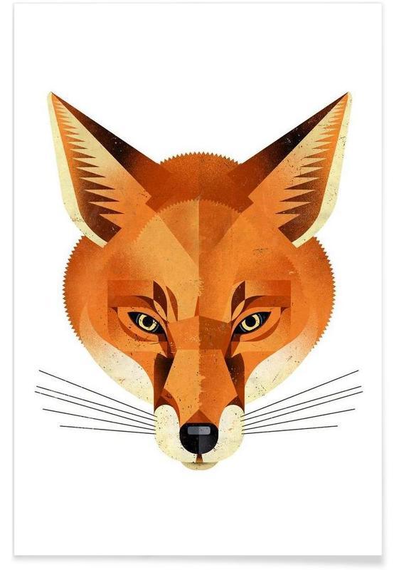 Vintage Fox Poster
