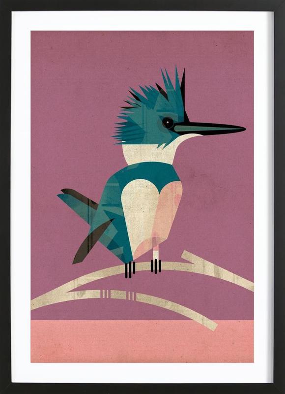 Kingfisher -Bild mit Holzrahmen