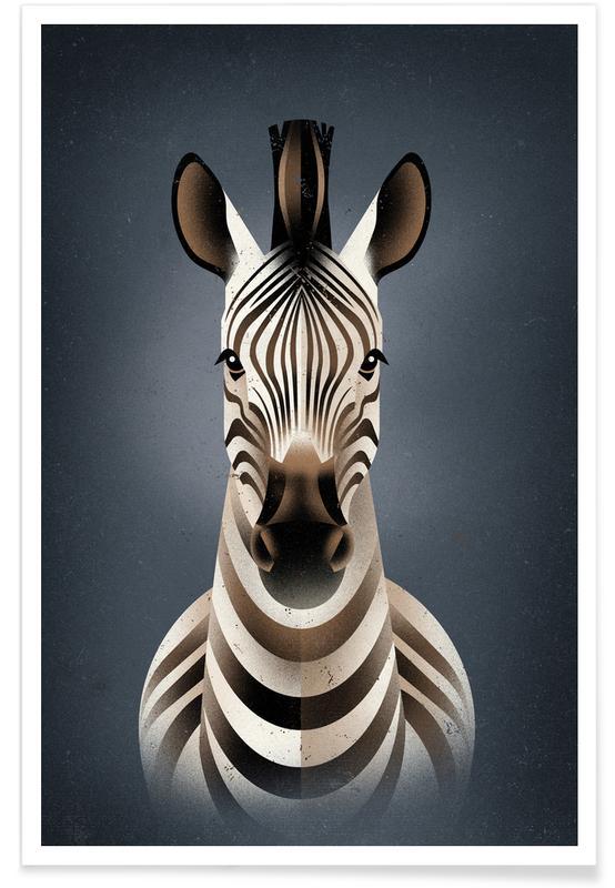 Zebra II -Poster