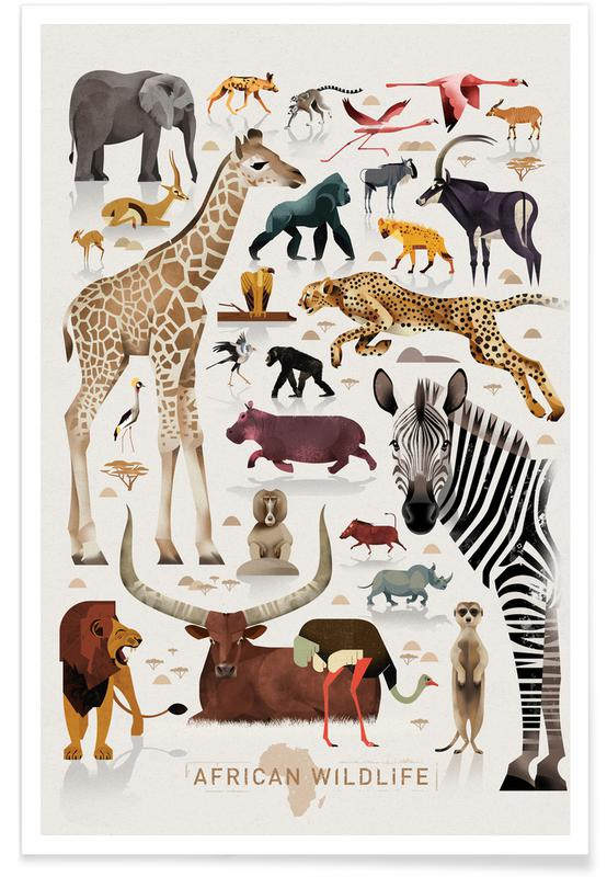 Vintage Africa Plakat