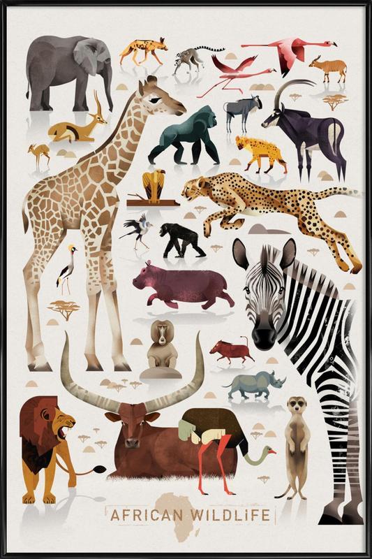 Afrika ingelijste poster