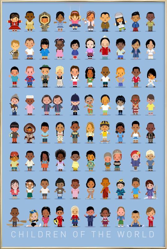 Children Of the World -Poster im Alurahmen