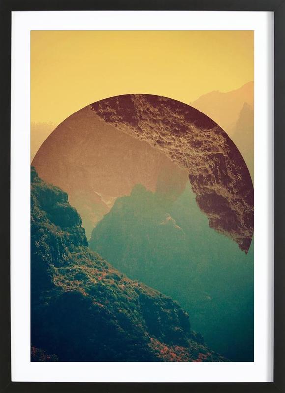 Esfera -Bild mit Holzrahmen