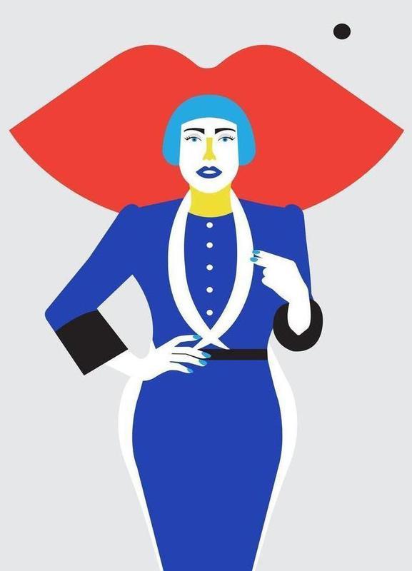 Ofelia Blue Lips -Leinwandbild