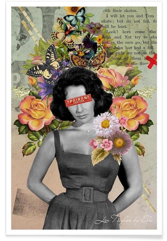 Public Figures: Liz Taylor -Poster
