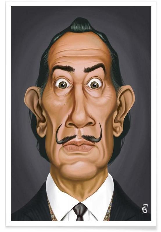 Salvador Dali-Karikatur -Poster