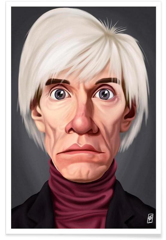 Andy Warhol-Karikatur -Poster