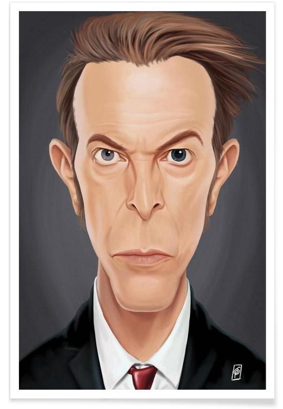 David Bowie-Karikatur -Poster