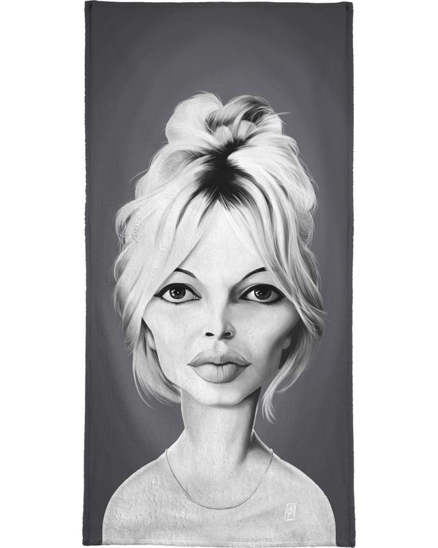 Brigitte Bardot serviette de bain