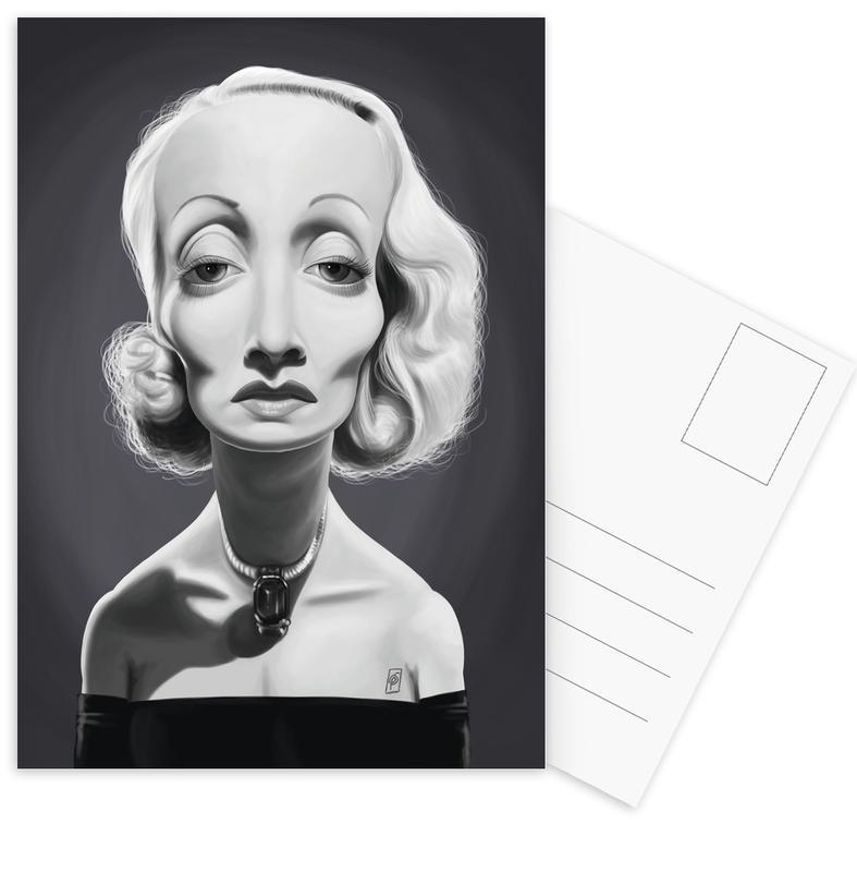 Marlene Dietrich cartes postales