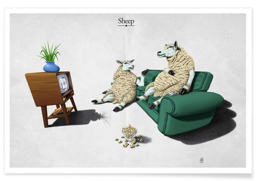 Sheep (titled) -Poster