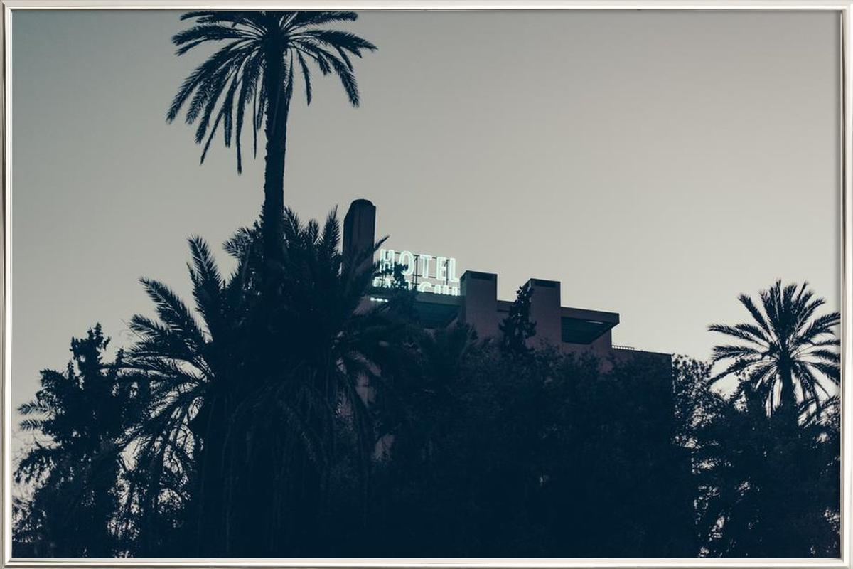 Marrakesh Paradise 16 Poster in Aluminium Frame