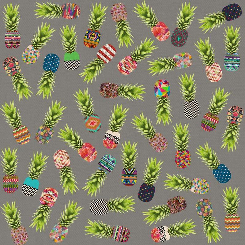 Crazy Pineapple Party acrylglas print
