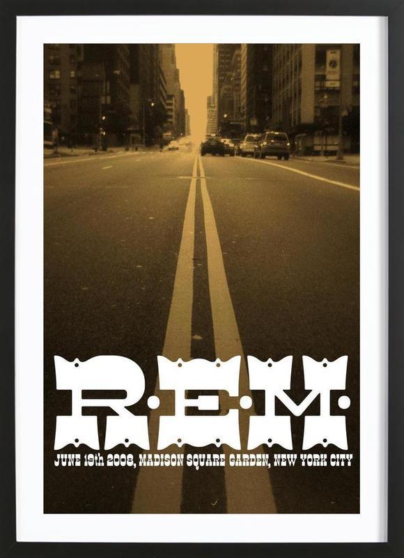 R.E.M. GIG POSTER Framed Print