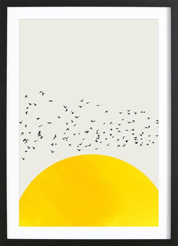 A Thousand Birds affiche sous cadre en bois
