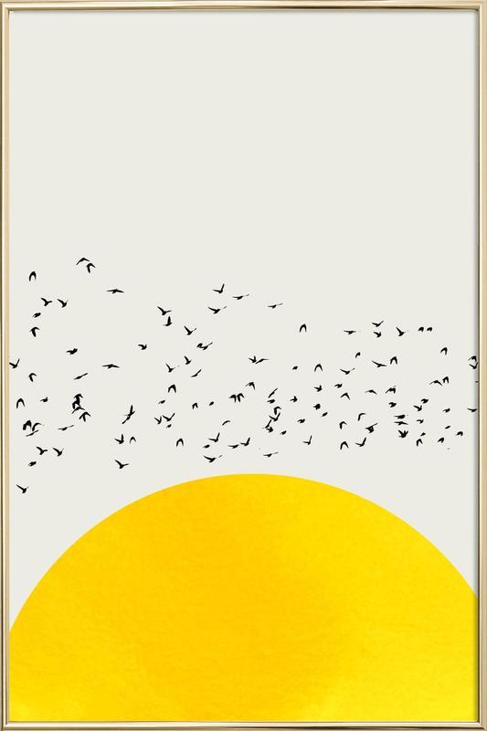 A Thousand Birds Poster in Aluminium Frame