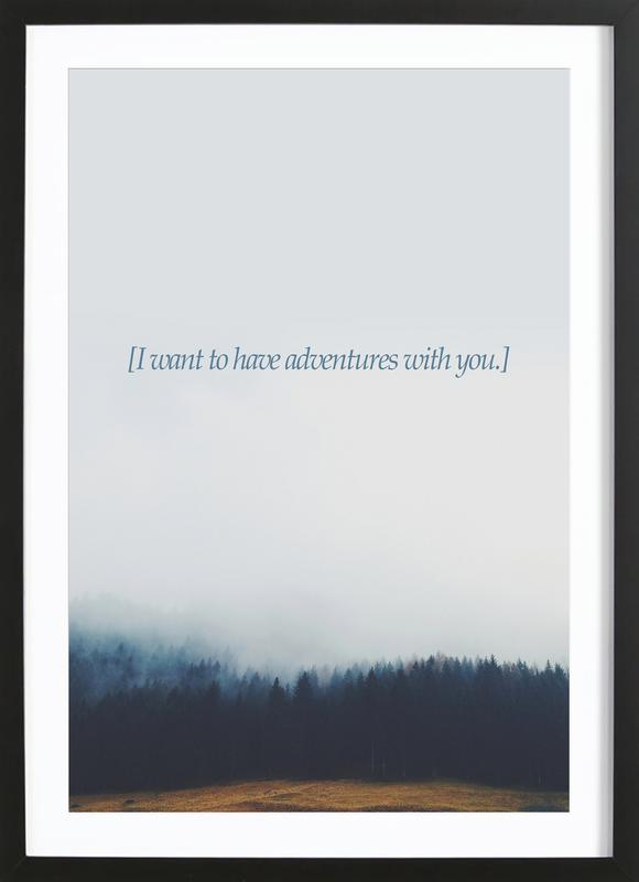 Adventures With You Framed Print