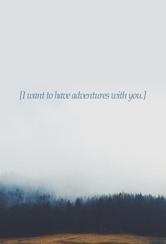Adventures With You Aluminium Print