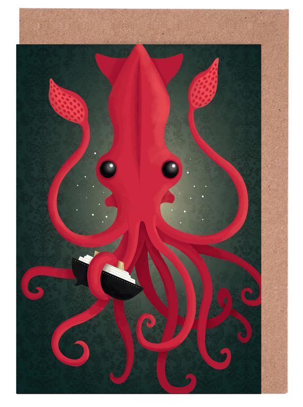 Kraken Attacken Greeting Card Set