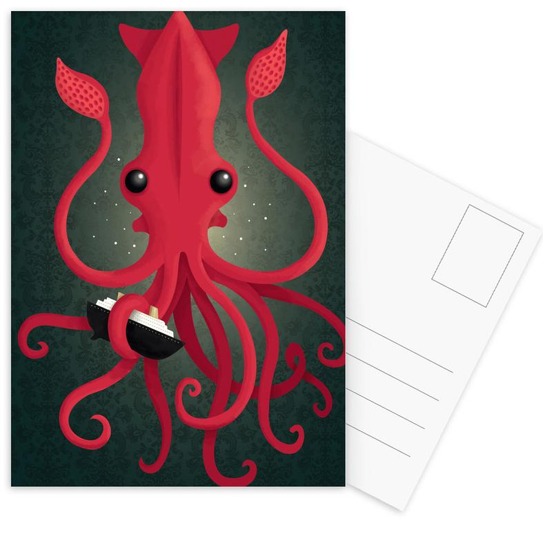 Kraken Attacken cartes postales
