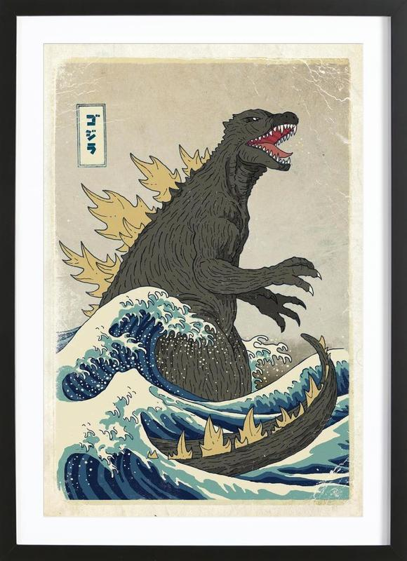 The Great Godzilla off Kanagawa Framed Print