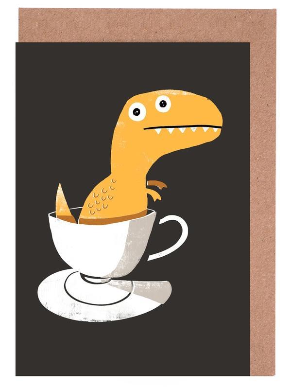 Tea Rex -Grußkarten-Set