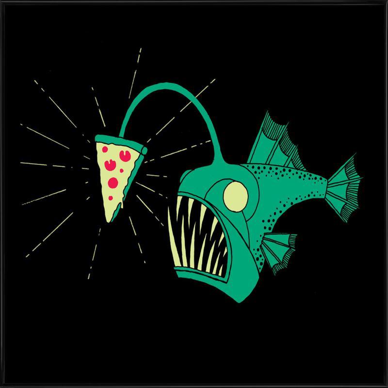 Angling For Pizza -Bild mit Kunststoffrahmen