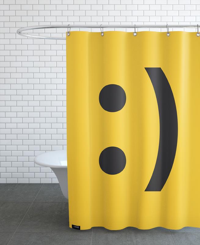 Smiley -Duschvorhang