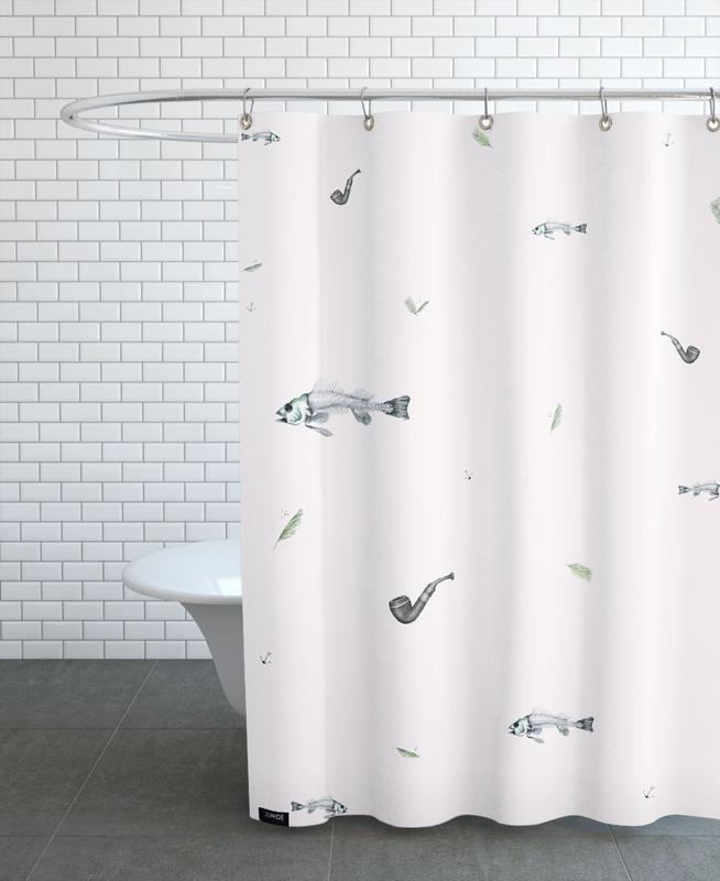 Mexican Tabacco Pattern Shower Curtain