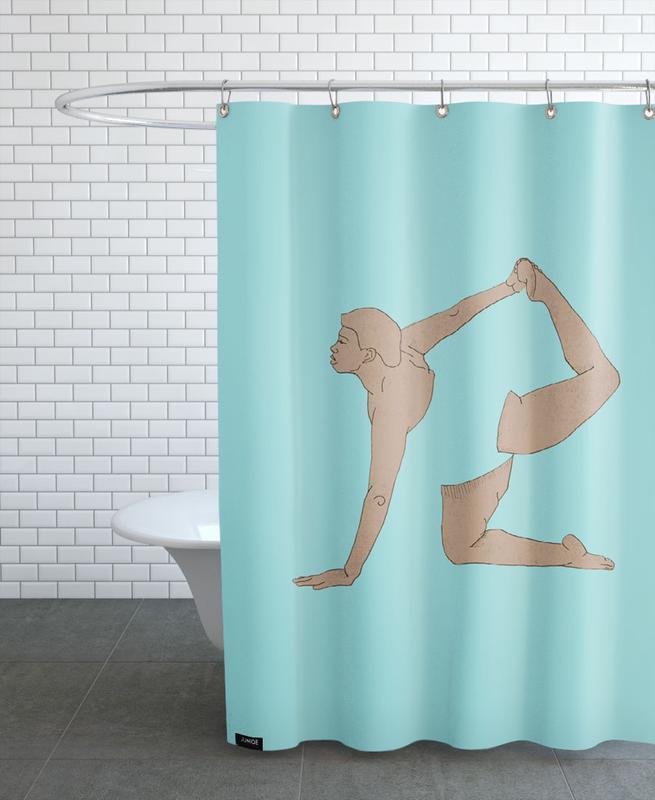 Yoga Practice 10 Shower Curtain