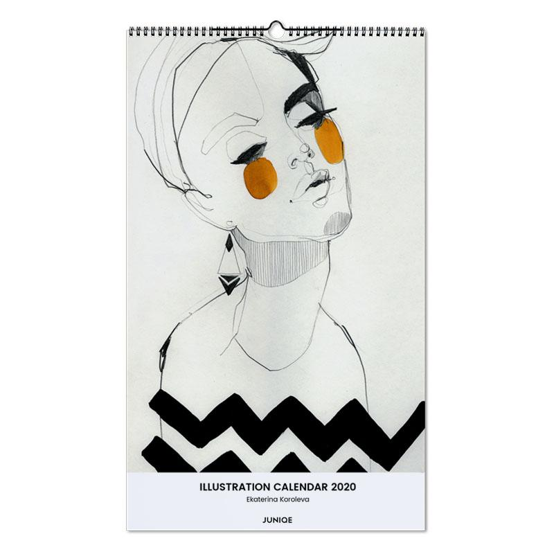 Illustration Calendar 2020 - Ekaterina Koroleva Wall Calendar