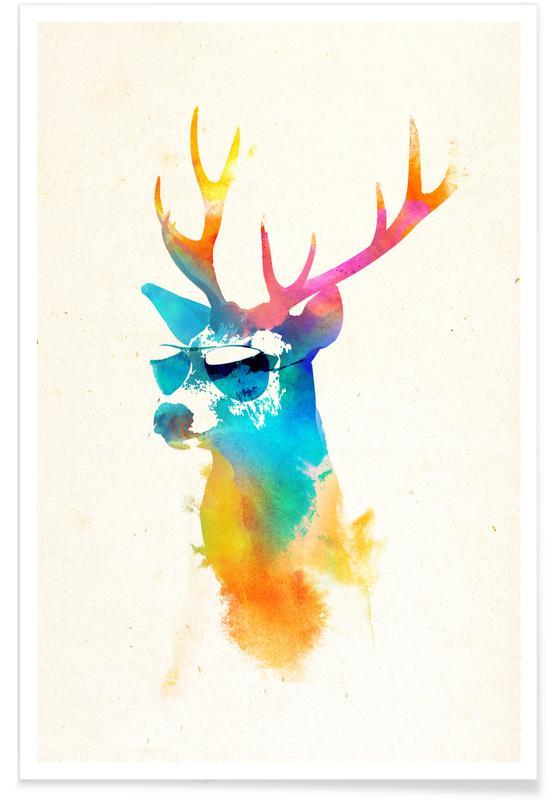 Sunny deer -Poster