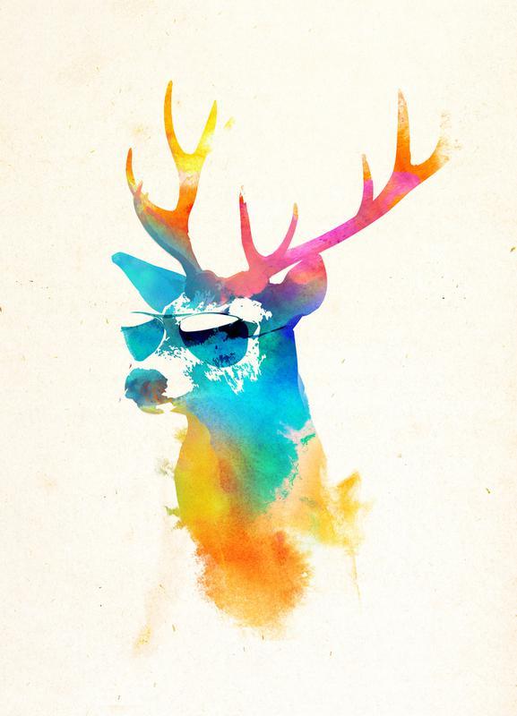 Sunny deer toile