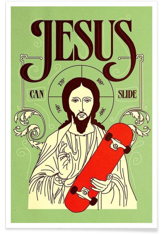 Jesus Can Slide -Poster
