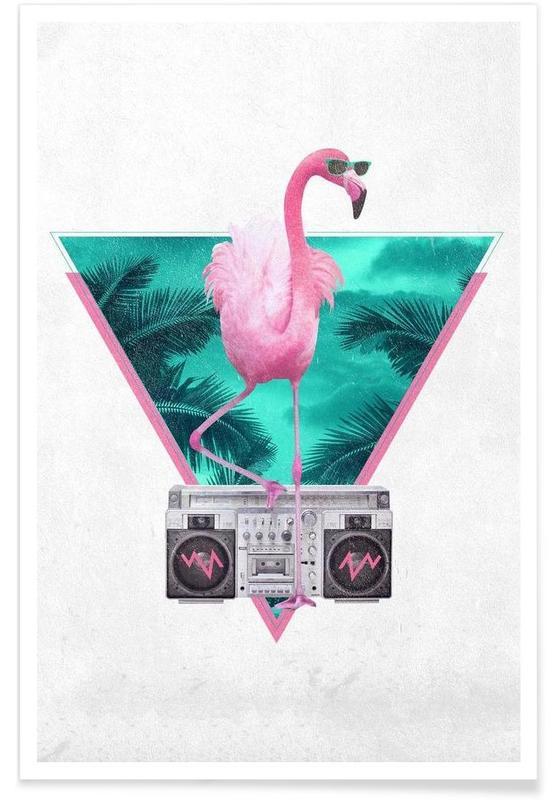 Miami Flamingo -Poster