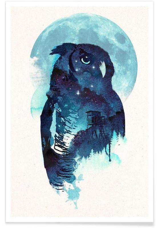 Midnight owl Poster